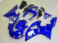 98 r1 carenado azul al por mayor-3 regalos gratis Nuevos carenado del ABS Fit Kits para YAMAHA YZF-R1 98 99 1998 1999 YZF1000 R1 carenados carrocería Set Blue personalizada