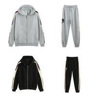 logo moda giyim toptan satış-19ss İtalya Tasarımcıları Moda Markaları Logo Ile Yeni HOODED ZIP-UP SWEATSHIRT STRIPE erkek Hoodies kadın Tişörtü adam giyim g77
