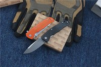 Wholesale best small camping knife for sale - Group buy HIGH END Small Size Lionsteel Flipper Tactical Knife M390 Stonewash Blade Utility Outdoor Hunting Tool Camping Knives Best Gift P819F Q