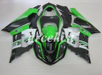 kit completo de carenado ninja al por mayor-4Gifts Nuevos ABS motocicleta carenados completos kits de ajuste para Kawasaki Ninja ZX6R 636 2005 2006 05 06 6R conjunto de carrocería estilo fresco personalizado