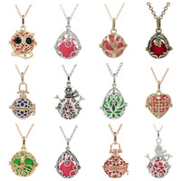 Wholesale snowmen jewelry diy for sale - Group buy 200 Designs Tree Leaf Snowman Tree of Life Owl Essential Oil Diffuser Locket Cage Perfume DIY Necklace Aromatherapy Pendant Jewelry Making