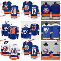 ingrosso ny blu jersey-2019 New York Islanders Matt Martin Maglie cucite Personalizza alternate NY Blue Shirts 17 Matt Martin Hockey Maglie S-XXXL
