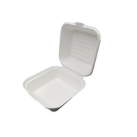 Wholesale fast food packages online - Disposable Food Packing Boxes Party Fast Food Hamburger Cake Containers Restaurant Packaging Box Convenient Takeaway Case QW9795