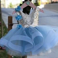 1. kinder großhandel-Ersten 1. Geburtstag Kleid Baby Taufe Kleidung 1-5 Jahre Mädchen Party Wear Kinder Kleidung Tutu Infant Baby Mädchen Taufkleid Y19050801