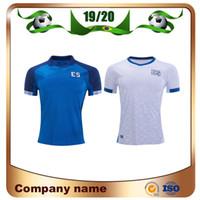 Wholesale national soccer sleeve resale online - 2019 El Salvador Gold Cup Soccer Jersey Home Blue Away White National TeamSoccer Shirt Short Sleeve Customized Football Uniform