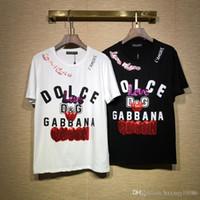 pamuklu özel toptan satış-2019 Lüks Yeni Moda Tasarımcısı Giysi Avrupa İtalya İşbirliği Roma Special Edition Tshirt Erkek Kadın T Gömlek Casual Pamuk Tee Üst