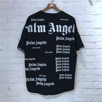 ingrosso donne di cotone di modo-T-shirt Palm Angels Oversize Wen Women 1p: 1 T-shirt in cotone angeli palmari