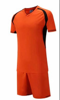 Wholesale jersey custom logo resale online - New arrive Cheap high quality soccer jersey soccer Football uniform kit No Brand uniforms kit Custom Name Custom LOGO Orange