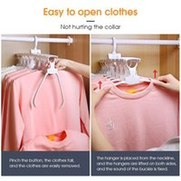 Wholesale electric hangers resale online - Magical Clothes Hanger Portable Laundry Rack Hook Hanger Dryer Clips Folding Drying Clothes Electric Drying Rack