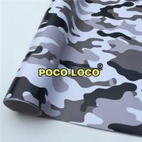 ingrosso neve auto camo-ARCTIC NEVE In bianco e nero CAMO Digital Camouflage Car Wrap vinile per camion di cibo moto, gancio per auto, tetto, coda