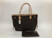 el çantaları toptan satış-2019 yeni kadın deri çanta kadın anne paket çanta el anne yükleme omuz çantası kadın çantası + Küçük çanta N51106 M40157