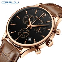 Wholesale waterproof military watches for men for sale - Group buy reloj hombre CRRJU Mens Military Waterproof Sports Watches Fashion Dress Casual Watch for Man Quartz Leather Strap Men s Watch