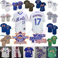 keith hernandez camisa venda por atacado-Keith Hernandez Jersey Nova Iorque Cooperstown Mets 1986 World Series WS Jerseys Das Mulheres Dos Homens Juventude Botão Pullover Casa Fora de Todos Costurado