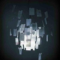diy paper bedroom art großhandel-Moderne Papier Zettel Pendelleuchte DIY Weiß Hängelampe Pendelleuchte Neu für Schlafzimmer Esszimmer Wohnzimmer Dekor Kunst