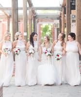 ingrosso dimensione 12 abiti per gli ospiti di nozze-2019 Plus Size New White Lace Abiti da damigella d'onore economici Halter Neck Wedding Guest Dress Abiti damigella d'onore Plus Size