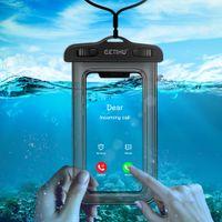 unterwasserabdeckungen samsung großhandel-Wasserdichte telefon case für iphone x xs max xr 8 7 samsung s9 klar pvc unterwasser handy trocken tasche abdeckung