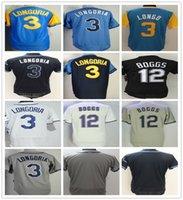 pedidos de camisetas de béisbol juvenil al por mayor-Custom Hombres Mujeres Juventud 3 Evan Longoria Jersey Blanco Gris Azul claro Evan Stitched 21 Wade Boggs Jerseys de béisbol Orden de mezcla