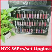 Wholesale nyx lips resale online - NYX SOFT MATTE LIP CREAM NYX Lipstick Lip Gloss Matte No Fading Soft Velvet Lip Makeup colors set