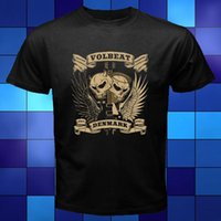 dänische modelle großhandel-Volbeat Danish Denmark Rock Band Schwarzes T-Shirt Größe S M L Xl 2xl 3xl T-Shirt Herren Kurzarm Basic-Modelle
