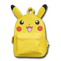 ffc3e96ba9d6 Anime Monster Yellow Cartoon Pikachu Big School mochila mochila con oreja  para regalo de Navidad para niños