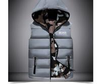 chaleco sin mangas de los hombres s al por mayor-Diseñador de lujo Bos Jacket Moda para hombre Abrigos de chaquetas con pato blanco Abajo Chaleco de cuello Diseñador de la marca de hombres Abrigo sin mangas