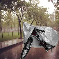 ingrosso copertura antipolvere impermeabile bicicletta-Copertura universale della polvere della pioggia della motocicletta della bici Copertura antipolvere UV impermeabile della bicicletta della bicicletta della prova della protezione della bicicletta Attrezzatura protettiva 210 * 100UK della bicicletta