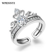Wholesale ring crown shape for sale - Group buy Vintage Sweet Crown Shape Engagement Ring Set Silver Color mm ct Zirconia Studded Birthday Gifts Fashion Accessory
