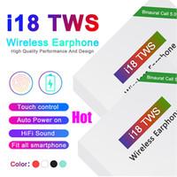 kullanılan kulaklıklar toptan satış-Sıcak i18 TWS Oto Soyma Kutusunu Kullanma AÇIK 5.0 Kablosuz Bluetooth Kulaklık Destek Pop Pencere Stereo Kulaklık Kulaklık Oto Güç dokunun