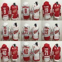 Men Women Youth Detroit Red Wings Hoodies 40 Henrik Zetterberg 71 Dylan  Larkin 9 Gordie Howe 19 Steve Yzerman 8 Abdelkader Hockey Pullover c1207bb9b