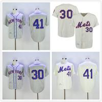 9b941ebc Tom Seaver Jersey Nolan Ryan 30 New York Vintage Jersey Cream Pinstripe Grey  Men size M-3XL