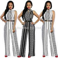 ingrosso sciarpe mediorientali-nuovo stile di abbigliamento moda donne africane Dashiki Stampa tessuto elastico senza maniche tute vestono