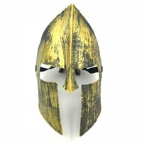 Wholesale warrior face mask resale online - 50pcs Halloween Vintage Spartan Warrior Mask Knight Hero Masquerade Venetian Full Face Masks For Halloween Christmas Party Decoration