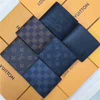 ingrosso pieghevole-portafogli firmati mens designer portafogli borse di lusso portafoglio zippy mens portafogli brevi porta carte di design uomo lungo piegato borse m46002 w777