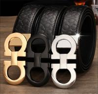 accessoires de ceinture de cuir achat en gros de-Luxe ceinture mode mens grande boucle ceinture designer de qualité Top hommes lisse boucle ceinture livraison gratuite
