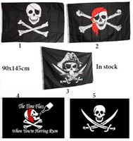 Wholesale jolly ball for sale - Group buy 90x150cm halloween Bar home decoration pirate flag prop festival Jolly Roger decor banner terror skull pirates costume ball accessary