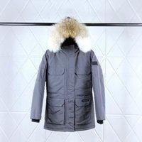 dama de lujo chaqueta abajo al por mayor-19FW caliente de lujo con capucha abrigos clásico diseñador de las señoras abajo de la chaqueta para hombre Pares de la manera diseñador de las mujeres del ganso chaquetas HFXHYRF010