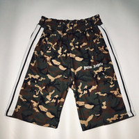 Wholesale plus size camouflage shorts for sale – plus size 18SS Palm Angels Track Shorts Comprehensive Training Vintage Camouflage Short Pants Casual Sports Street Fashion Shorts HFYMKZ141