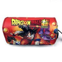 Wholesale korean black cosplay for sale – custom dragon ball super pencil case bag anime cosplay goku pencil pouch for school comics fan