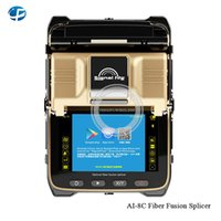 fiber ekleme makinesi toptan satış-Ücretsiz kargo SM MM Sinyal AI-8C Otomatik Fiber Optik Yapıştırma makinesi Optik Fiber Fusion Splicer FTTH, kısmi değer