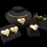 Wholesale indian gift boxes resale online - Yulaili Warm Heart Design Hot Trendy Between Lovers in Engagement Four Jewelry Sets Full of Romantic Feelings Free Gift Box