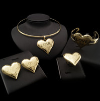 Yulaili Warm Heart Design Necklace Hot Trendy Between Lovers in Engagement Four Jewelry Sets Full of Romantic Feelings Free Gift Box