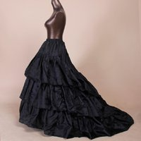 Wholesale brides petticoats for sale - Group buy Black or white Trail One Size Wedding Accessories Bridal Crinolines Vestidos De Novia Underskirt Bustle Bride Petticoat