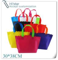 ingrosso borsa pubblicità-30 * 38 CM 20 pz / lotto logo personalizzato stampa non tessuto shopping bag utilizzato per la promozione / regalo / pubblicità e lo shopping # 164397