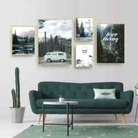 Wholesale landscape paintings forest for sale - Group buy Scandinavian Style Travel Forest Landscape Canvas Wall Art Poster Modern Print Painting Nature Decor Picture Living Room Decor