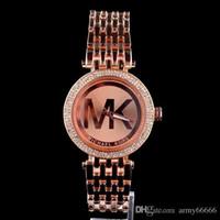 часы для женщин серебристый оптовых-Новый известный роскошный Кристалл циферблат браслет Кварцевые наручные часы Рождественский подарок для женщин Дамы золото розовое золото серебро Оптовая Бесплатная доставка