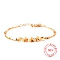ingrosso anello di prezzo d'argento della porcellana 925-Bracciale in argento sterling 925 placcato oro personalità moda braccialetto di perline ragazze fantasia bracciali Cina prezzi a buon mercato all'ingrosso