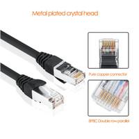 parche lan al por mayor-Cable Ethernet RJ45 Cat5 Cable Lan UTP RJ 45 Cable de red para Switcher router TV Cat6 Cable de conexión compatible con Ethernet