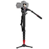 llevar trípode al por mayor-JIEYANG JY-0506 Trípode de video monopie profesional de aluminio para cámara con cabezal de trípodes Bolsa de transporte Envío Gratis JY0506