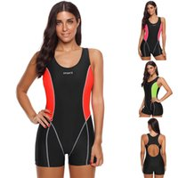 einteiliger badeanzug sport großhandel-2019 Neue Damenmode Einteilige Schnell trocknend Surfen Bademode Sport Shorts Badeanzug Dropship # 0306 A # 487