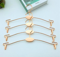 Wholesale lingerie clothes free shipping resale online - Rose Gold Metal Clothes Hanger with Clothespins Clip Bra Underwear Lingerie Panties Drying Rack Hanger Hook